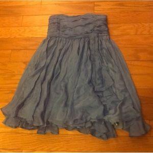 Alice + Olivia Flowy Blue Silk Dress